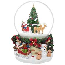 7 animated rotating santa claus on reindeer sleigh by