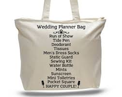 wedding day planner wedding planner tote etsy