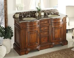 60 Inch Bathroom Vanity Double Sink by Adelina 60 Inch Double Sink Bathroom Vanity Chestnut Finish