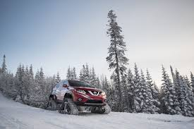 nissan rogue off road nissan rogue warrior on track to put winter in its place