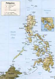 Road Map Of Mexico by Large Detailed Relief And Road Map Of Philippines Philippines