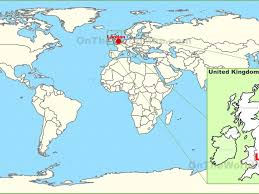 England On Map London Capital City Of England On The World Map Stock Photo Within