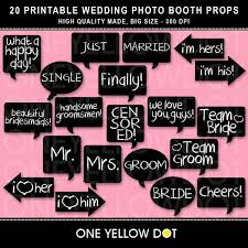 wedding photo props instant wedding photo booth props printable pdf