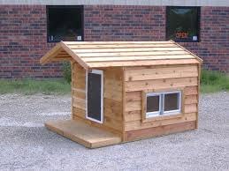 48x66x46 custom large insulated heated dog house with porch open