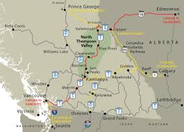 map of bc barriere and lower thompson valley maps and tourism information