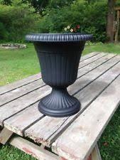 scalloped flare 15 in warm copper plastic low urn flower pot pots