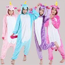 Halloween Costume Unicorn Aliexpress Buy Cute Cartoon Unicorn Pajamas Adults Kids