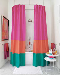 color block shower curtain martha stewart