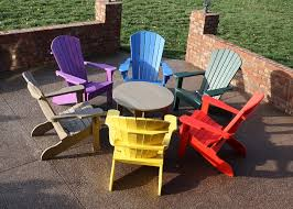 Yellow Plastic Adirondack Chair Patio Extraordinary Colorful Outdoor Furniture Colorful Outdoor