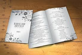Rustic Wedding Program Template 25 Wedding Program Brochure Templates