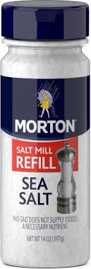 sea salt equivalent to table salt morton sea salt fine morton salt