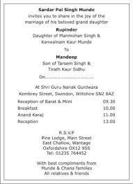 Punjabi Wedding Cards Http Www Sikhweddingcard Com Sikh Wedding Card Html