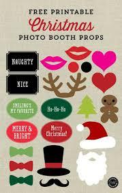 Christmas Photo Booth Props 31 Free Christmas Printables