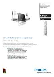 home theater system with wireless surround speakers philips hts9800w 37b user manual 3 pages also for cineos dvd