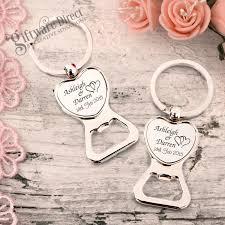 keychain wedding favors engraved heart chrome metal bottle opener keyring cheap wedding