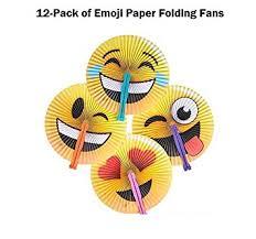 paper fans 12 emoji style foldable paper fans by rhode island