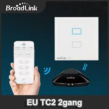 wifi controlled light switch broadlink tc2 eu uk standard 2gang 1 way wifi controlled touch light