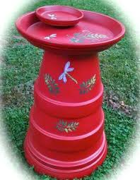 Flower Pot Bird Bath - more homemade bird baths mad out of flower pots love it diy