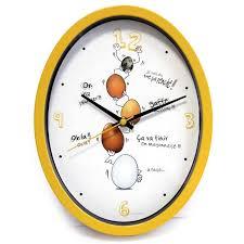 horloge cuisine ludik jaune