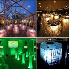 wholesale led under table lights ir remote wireless battery operated under table led light wedding
