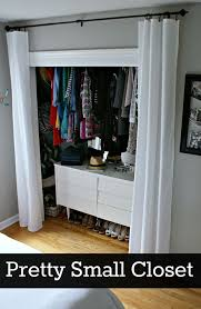 Curtain As Closet Door Best 25 Closet Door Curtains Ideas On Pinterest Curtain Rod