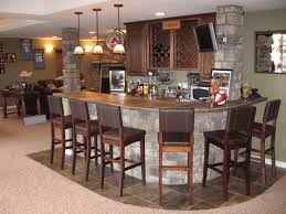basement sports bar ideas this basement bar features a concrete
