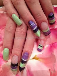 purple green nail design oh yes how awesome and fun are these