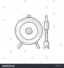 target board arrow vector sketch icon stock vector 432021394