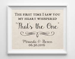 wedding gift quotes the time i saw you 100 cotton print quote