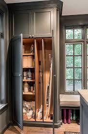 pb kitchen design mud room glen ellyn laundry room broom closet