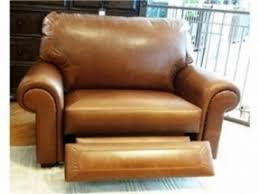 Reclining Leather Armchairs Chair And A Half Recliner Leather Foter