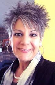 short grey hairstyles for straight thick hair short spiky blonde and purple hairstyles women round face thick
