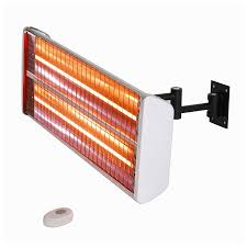 electric infrared patio heater shop energ 5100 btu 110 volt silver aluminum electric patio