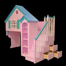 Railing Banister Pink Turquoise Castle Bunk Beds With Slide And Stair Mixed Railing