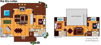 luxury cabin floor plans big sky lodge near pigeon forge tn big sky luxury log cabins