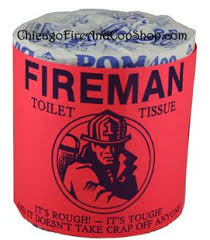 Department Gifts 6227 Fireman Toilet Paper Chicago Department And Chicago