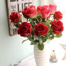 cheap roses 2018 buque de noiva boutonnieres roses artificial flowers cheap