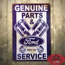 ford mustang metal wall t ford genuine parts service antique finish metal wall