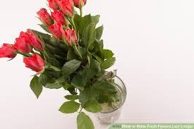 fresh flowers 4 ways to make fresh flowers last longer wikihow