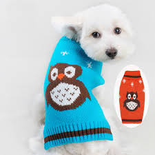 chihuahua sweaters owl winter warm pet cat crochet knit sweater clothes