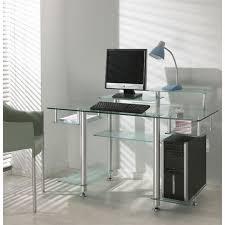 bureau en verre design bureau en verre noir maison design wiblia com