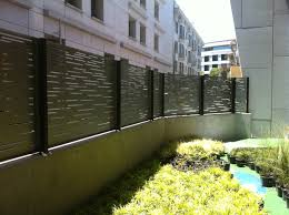 Modern Fence Inside View Bok Modern A18 Pattern Geometrical Slotted Security