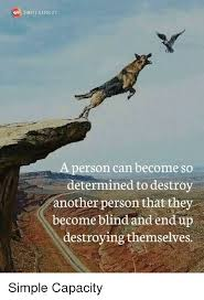 Determined Meme - simple capacity person can become so determined to destroy another