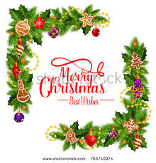 merry best wishes frame pie stock vector 765740974
