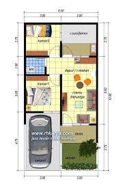 desain rumah lebar 6 meter denah rumah 6x12 1 lantai minimalis sederhana jasa desain rumah