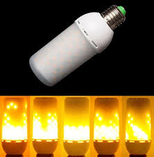 led flame effect fire light bulbs creative lights with flickering