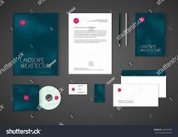 Business Card Letterhead Envelope Design by Minimalistic Corporate Identity Template Landscape Design Stock