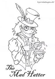 alice in wonderland coloring pages mad hatter for kids printable
