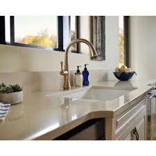 100 delta trinsic kitchen faucet champagne bronze kitchen