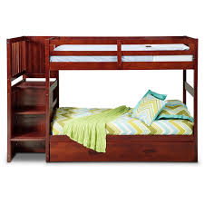 Bunk Beds With Trundle Ranger Twin Over Twin Bunk Bed With Storage Stairs And Trundle